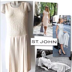 ST. JOHN COLLECTION JACQUARD SANTANA KNIT DRESS 6